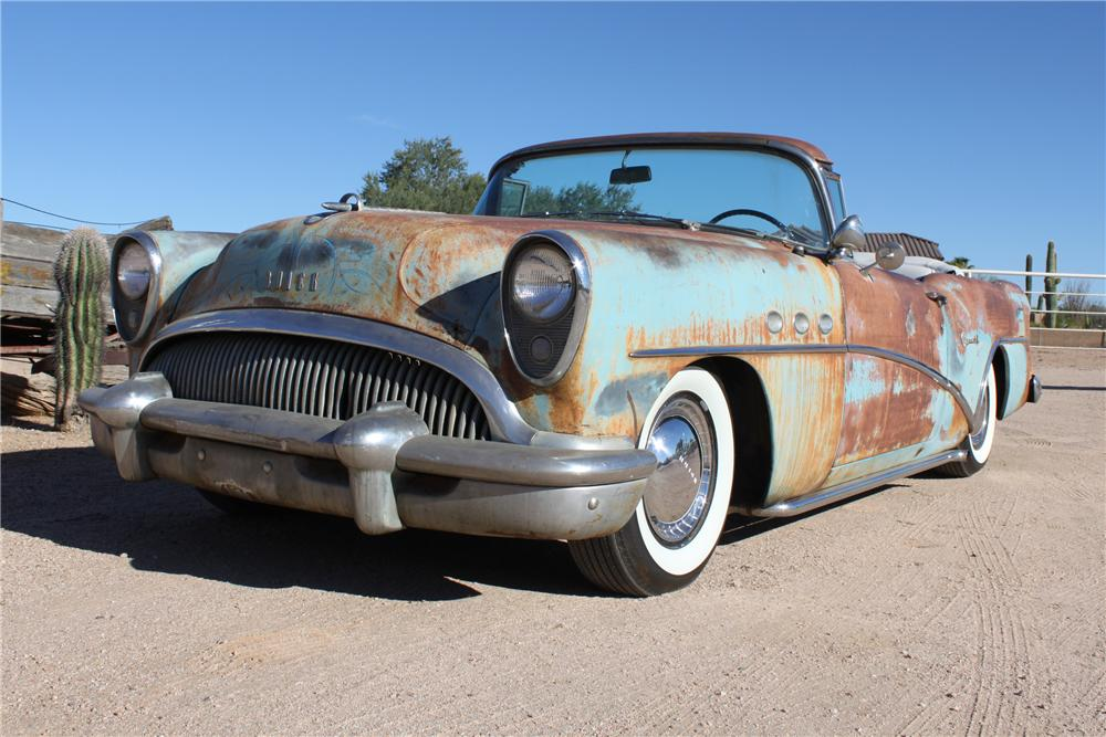 1954 BUICK SPECIAL CUSTOM TOPLESS ROADSTER - Front 3/4 - 98086