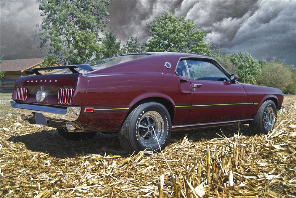1969 FORD MUSTANG MACH 1 428 CJ FASTBACK - Rear 3/4 - 98089