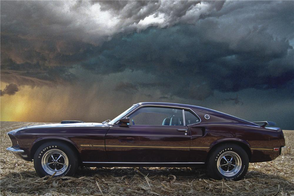 1969 FORD MUSTANG MACH 1 428 CJ FASTBACK - Side Profile - 98089