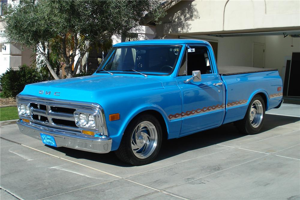 1970 GMC 1/2 TON CUSTOM PICKUP - Front 3/4 - 98091