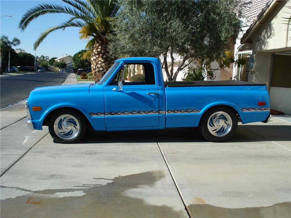 1970 GMC 1/2 TON CUSTOM PICKUP - Side Profile - 98091