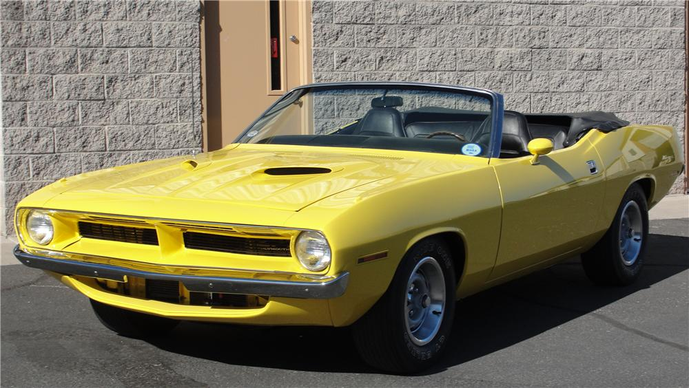 1970 PLYMOUTH BARRACUDA CUSTOM CONVERTIBLE - Front 3/4 - 98100