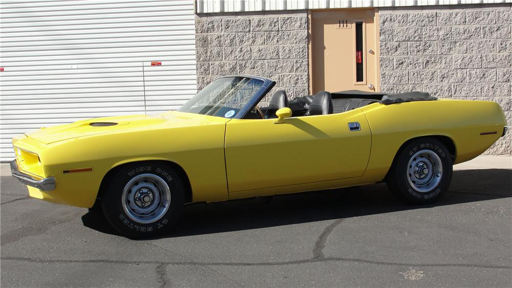1970 PLYMOUTH BARRACUDA CUSTOM CONVERTIBLE - Side Profile - 98100