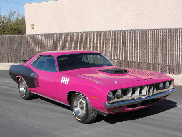 1971 PLYMOUTH CUDA CUSTOM 2 DOOR HARDTOP - Front 3/4 - 98106