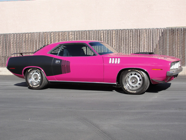 1971 PLYMOUTH CUDA CUSTOM 2 DOOR HARDTOP - Side Profile - 98106