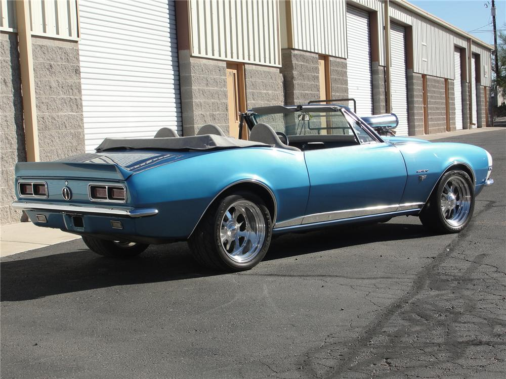 1967 CHEVROLET CAMARO RS CUSTOM CONVERTIBLE - Rear 3/4 - 98107
