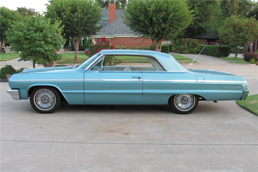 1964 CHEVROLET IMPALA SS 2 DOOR COUPE - Side Profile - 98111