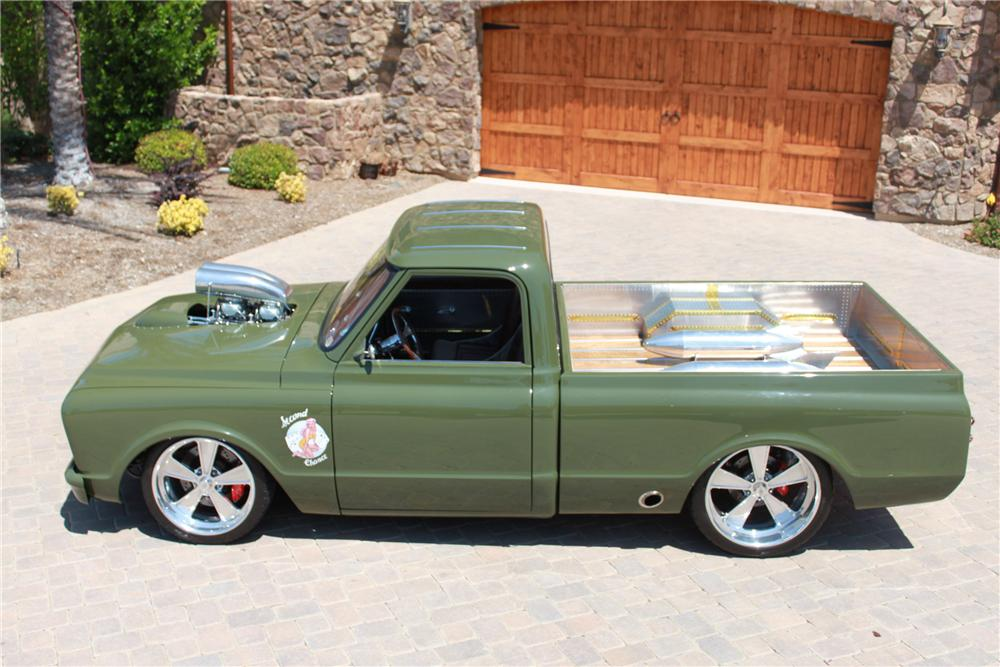 1967 CHEVROLET C-10 CUSTOM TRUCK - Side Profile - 98118