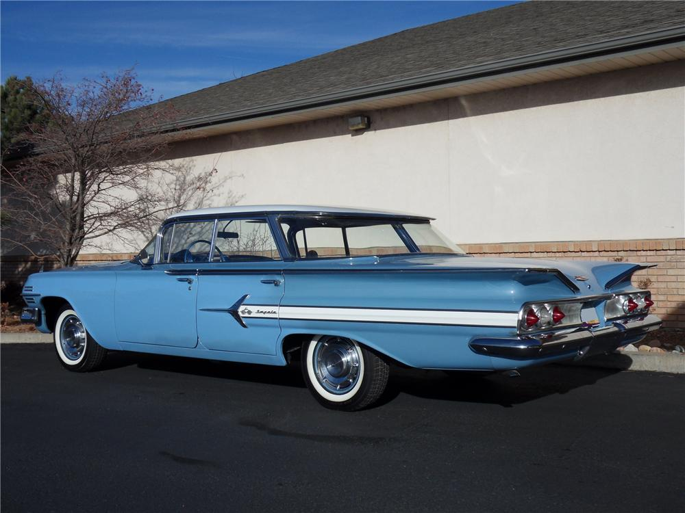 1960 CHEVROLET IMPALA 4 DOOR SEDAN - Rear 3/4 - 98172