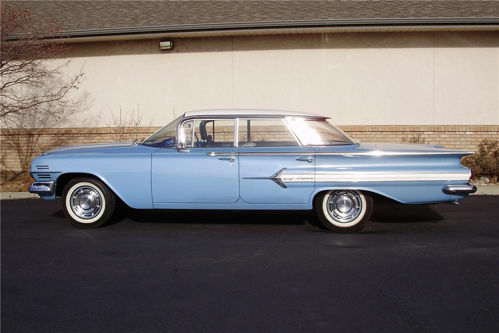 1960 CHEVROLET IMPALA 4 DOOR SEDAN - Side Profile - 98172