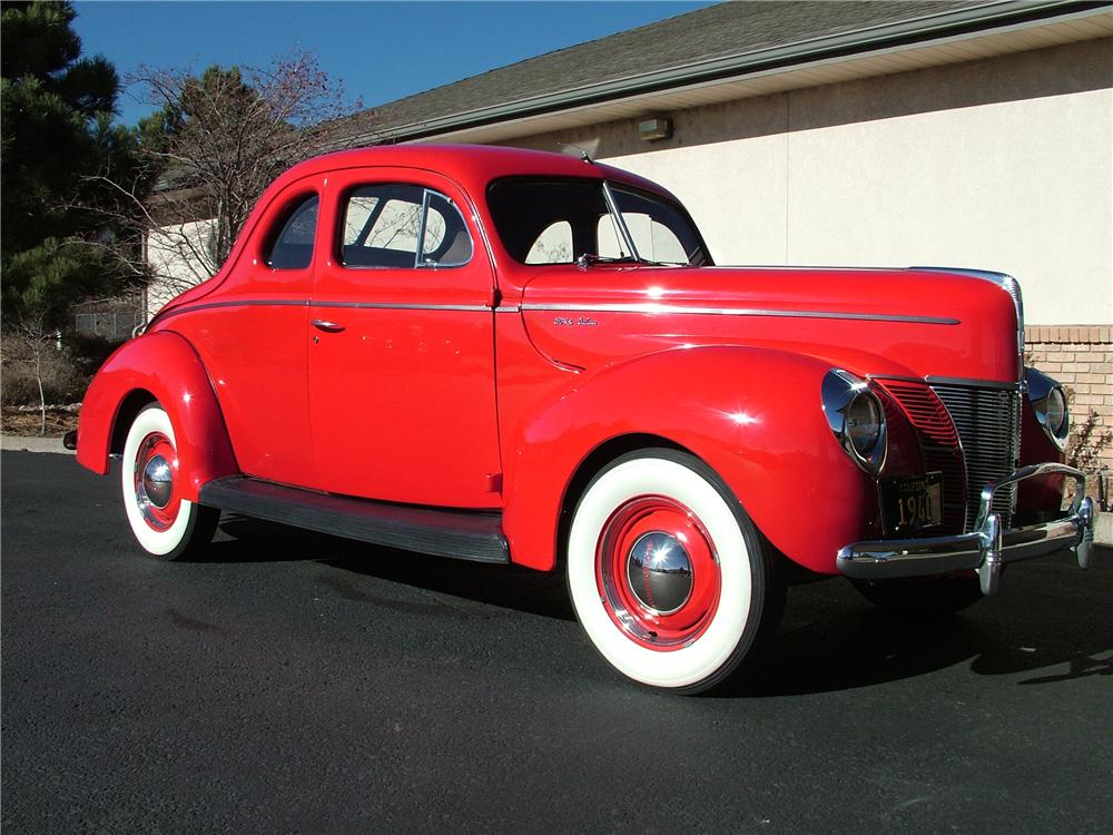 1940 FORD DELUXE CUSTOM 2 DOOR COUPE - Front 3/4 - 98178