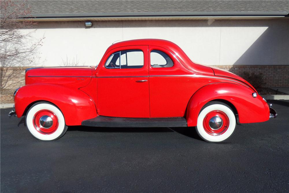 1940 FORD DELUXE CUSTOM 2 DOOR COUPE - Side Profile - 98178