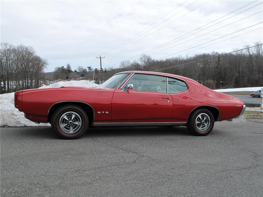 1969 PONTIAC GTO 2 DOOR HARDTOP - Side Profile - 98209