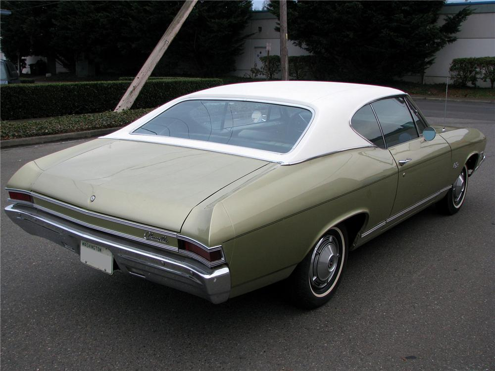 1968 CHEVROLET MALIBU 2 DOOR HARDTOP - Rear 3/4 - 98224