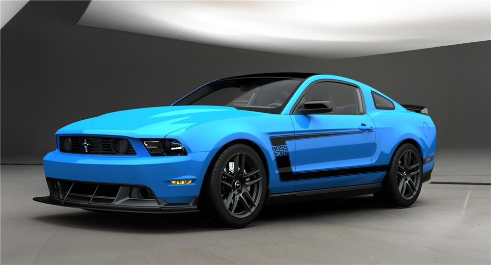 44kB, 2012 FORD MUSTANG BOSS 302 LAGUNA SECA COUPE - Front 3/4 - 98633