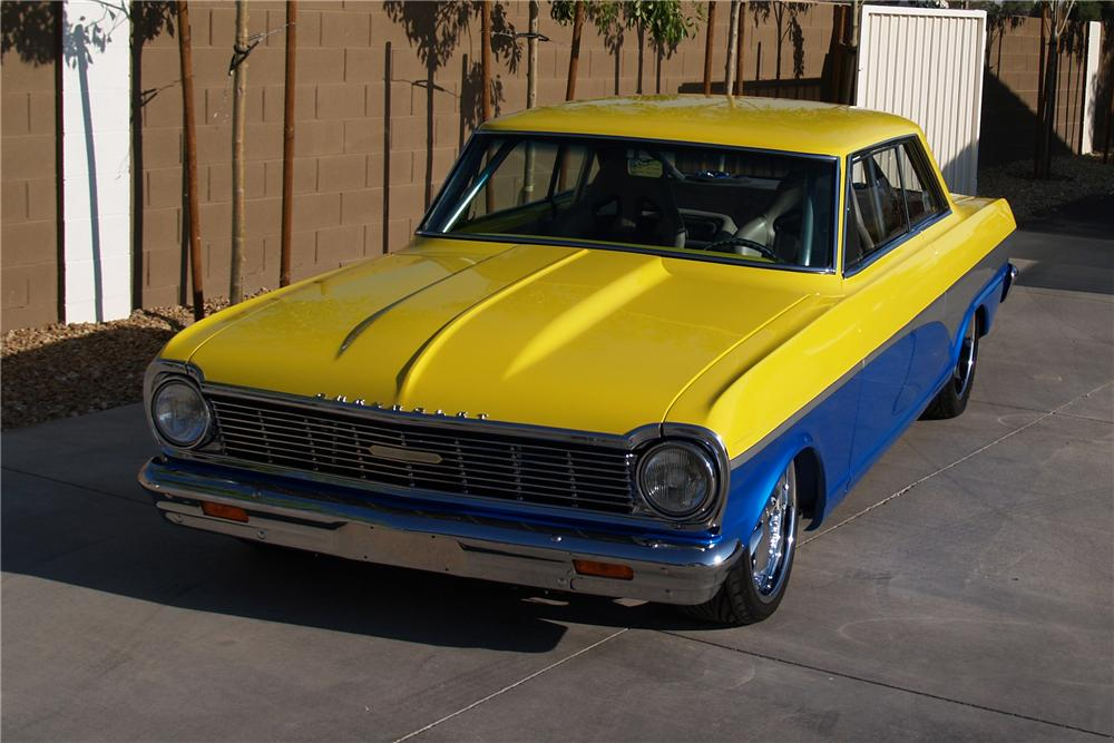 1965 CHEVROLET CHEVY II CUSTOM COUPE - Front 3/4 - 98859
