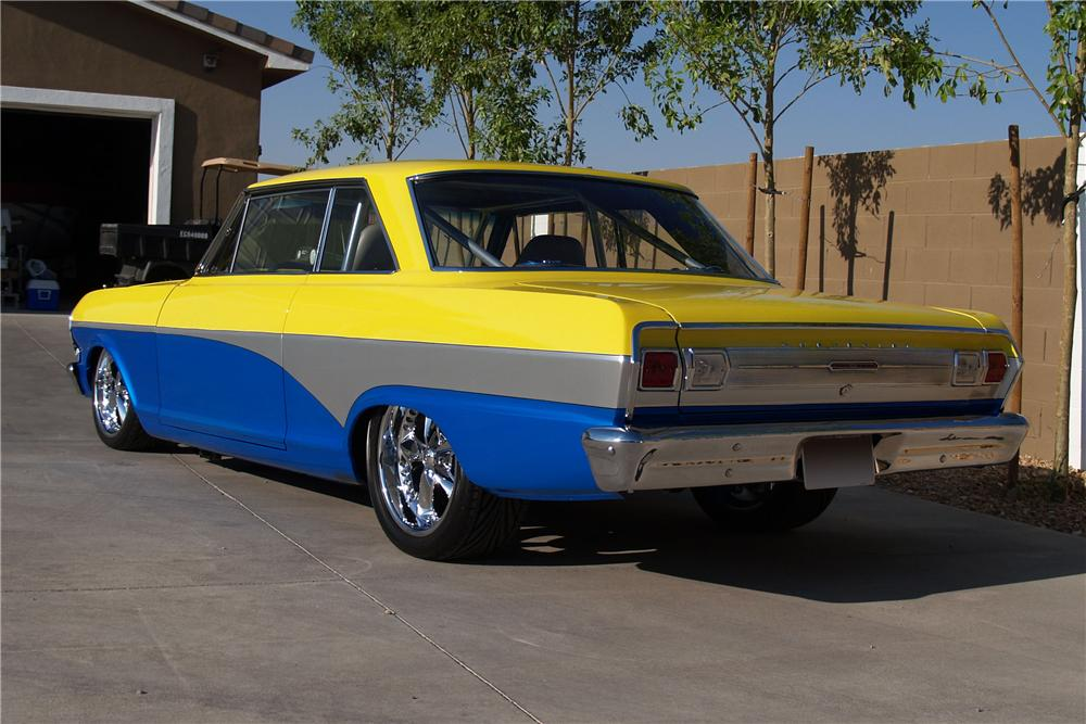 1965 CHEVROLET CHEVY II CUSTOM COUPE - Rear 3/4 - 98859