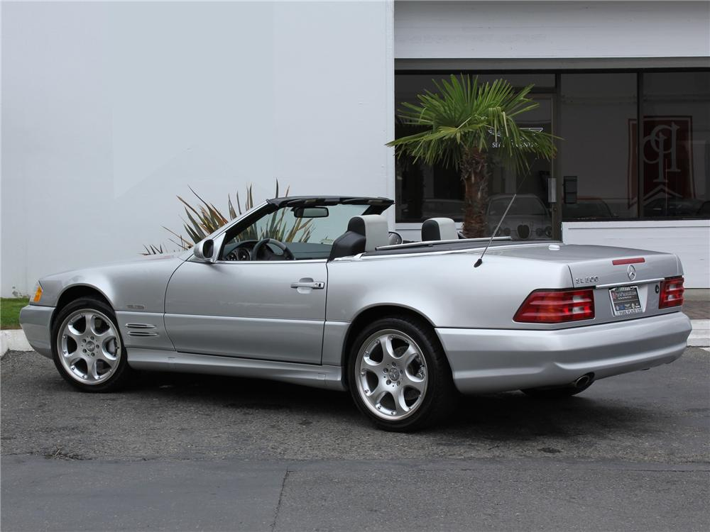 2002 mercedes benz 500sl silver arrow roadster 98980 for Mercedes benz roadster price