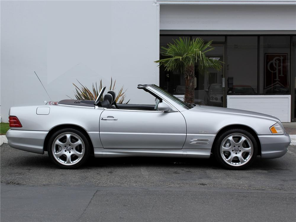 2002 mercedes benz 500sl silver arrow roadster 98980 for Mercedes benz silver