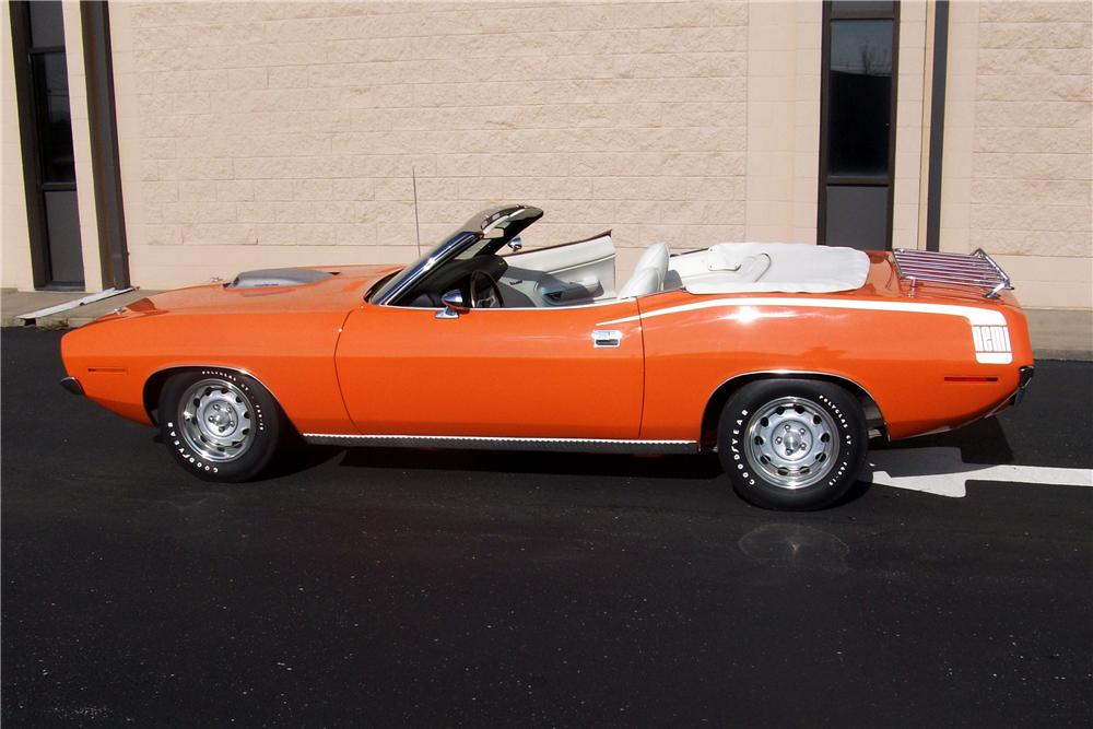 1970 PLYMOUTH HEMI CUDA CONVERTIBLE RE-CREATION - Side Profile - 99070