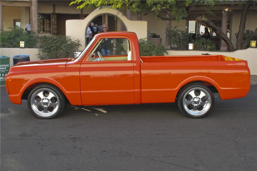 1971 CHEVROLET C-10 CUSTOM PICKUP - Side Profile - 99573