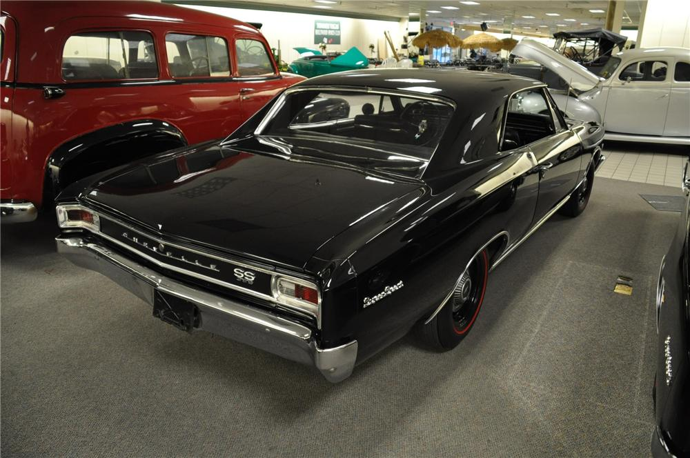 1966 CHEVROLET CHEVELLE 2 DOOR COUPE - Rear 3/4 - 99974