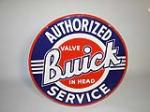 Late 40s-early 50s Buick Authorized Service double-sided porcelain dealership sign. - Front 3/4 - 101821