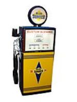 Highly sought after 1960s Wayne Sunoco Gasoline Blend-O-Matic restored service station gas pump. - Front 3/4 - 101863