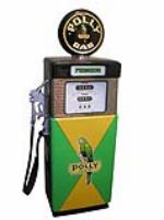 Very good looking 1960s Wayne 505 restored Polly Gasoline service station pump. - Front 3/4 - 108513