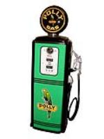 Fabulous 1940s-50s Polly Oil Tokheim model #39 restored service station gas pump. - Front 3/4 - 112926