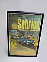 Desirable factory reprint of the original Sebring Cobra Powered By Ford racing poster. - Front 3/4 - 113268