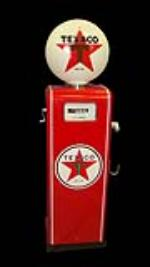 Nifty 1960s Texaco Low Boy restored service station gas pump. - Front 3/4 - 117043