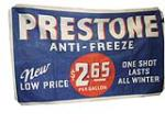 1940s Prestone Anti-Freeze automotive garage canvas banner. - Front 3/4 - 117986