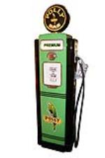 Incredibly restored 1948 Polly Oil Wayne model #70 restored service station pump. - Front 3/4 - 125625