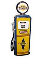 Absolutely gorgeous 1955 restored Sunoco Oil Tokheim model 300 service station gas pump. - Front 3/4 - 125659