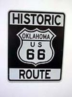 Newer Oklahoma Historic Route 66 highway road sign.  Comes with a Route 66 brochure. - Front 3/4 - 130834