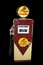 Distinctive 1950 Gilmore Oil Wayne 505 restored service station gas pump. - Front 3/4 - 133458