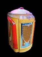 "Beautiful 1948 Seeburg Model #148 ""Trash Can"" diner Juke Box.  Appears to be all original. - Front 3/4 - 133468"