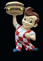 Spectacular 12 1950s-60s Big Boy Restaurant three-dimensional restored drive-in sign. - Front 3/4 - 138530