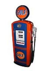 Choice 1948 Gulf Oil Bennett model #76 restored service station gas pump. - Front 3/4 - 138737