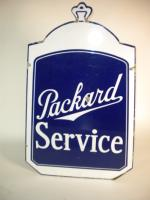 Scarce 1930s Packard Automobiles double-sided porcelain radiator shaped dealership sign. - Front 3/4 - 138920