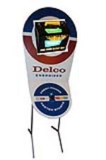 Killer 1967 GM Delco dealership showroom three-dimenstional display with lighted rotating battery. - Front 3/4 - 139672