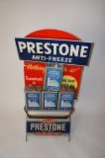 Interesting 1930s-40s Prestone Anti-Freeze service station display with four original period tins included. - Front 3/4 - 139738