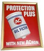 N.O.S. 1967 AC Oil Filter blow mold plastic sign - Front 3/4 - 139889