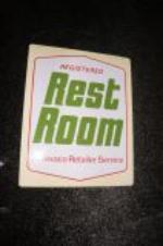 "Addendum Item - 1960s Texaco ""Clean Rest Rooms"" double-sided tin service station sign. - Front 3/4 - 145296"