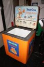 Addendum Item - Very cool 1950s Snow Crop Orange Cooler restored soda fountain cooler by Amana. - Front 3/4 - 145312