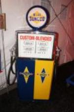 Addendum Item - Magnificent and rare Sunoco Custom Blend duel-dispensing restored service station gas pump. - Front 3/4 - 145373