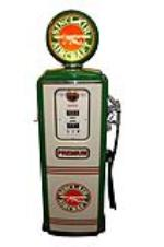 Simply magnificent Sinclair late 1940s-50s Tokheim model #39 gas pump restored in Sinclair Aircraft regalia. - Front 3/4 - 151820