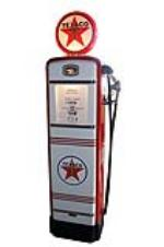 Handsome late 19540s Texaco Oil Gilbarco restored service station gas pump. - Front 3/4 - 151825