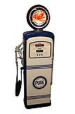 Stellar 1950s Pure Oil service station Wayne gas pump.  Restored to show car quality standards. - Front 3/4 - 151906